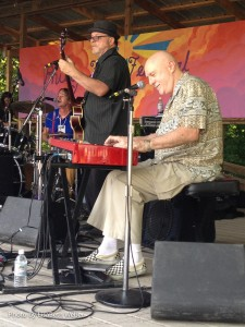 Piano man Pete Levin playing with Gabe Butterfield Blues Band.
