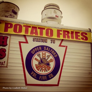 The ever popular French Fries from the heroic Upper Salford Fire Company!