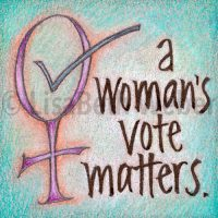 a_womans_vote_matters_pin©LisaBethWeber