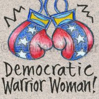 democratic_warrior_woman_pin©LisaBethWeber