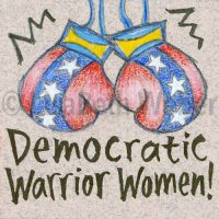 democratic_warrior_women_pin©LisaBethWeber