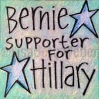 bernie_supporter_for_hillary_pin©LisaBethWeber